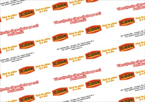 Hartie personalizata pentru cofetarii, patiserii si brutarii
